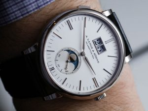A. Lange & Söhne Saxonia Moon Phase Watch Hands-On Hands-On