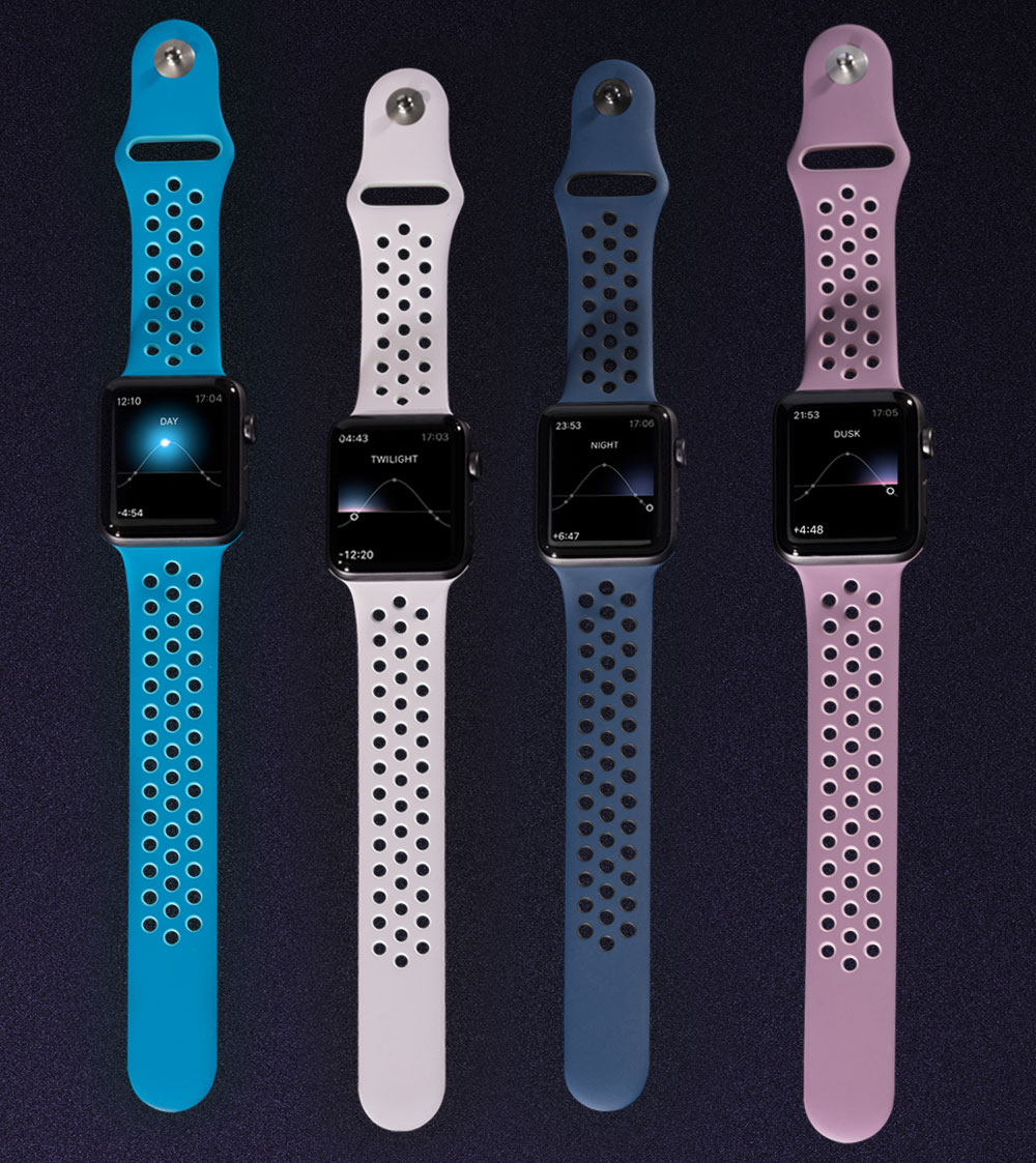 Apple Watch Nike+ Sport Bands 'Day To Night' Colors