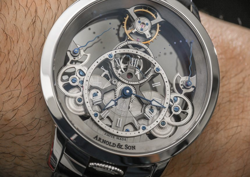 Arnold & Son Time Pyramid Translucent Back Watch Hands-On