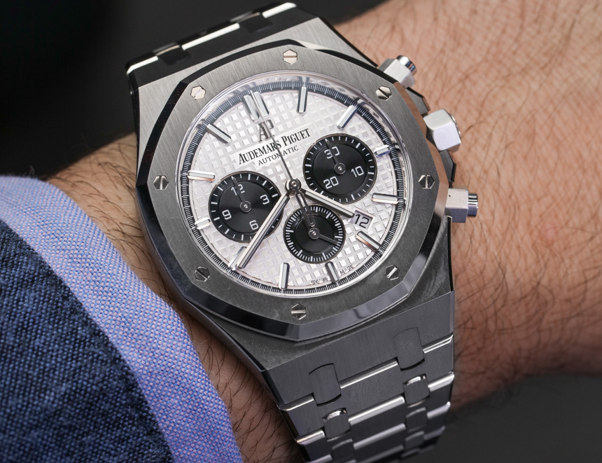 Audemars Piguet Royal Oak Chronograph Watch In Steel Hands-On