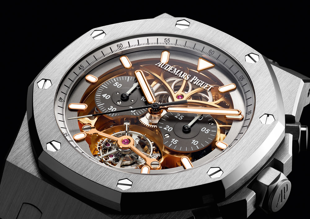 Audemars Piguet Royal Oak Tourbillon Chronograph Openworked Material Good Watch Watch Releases