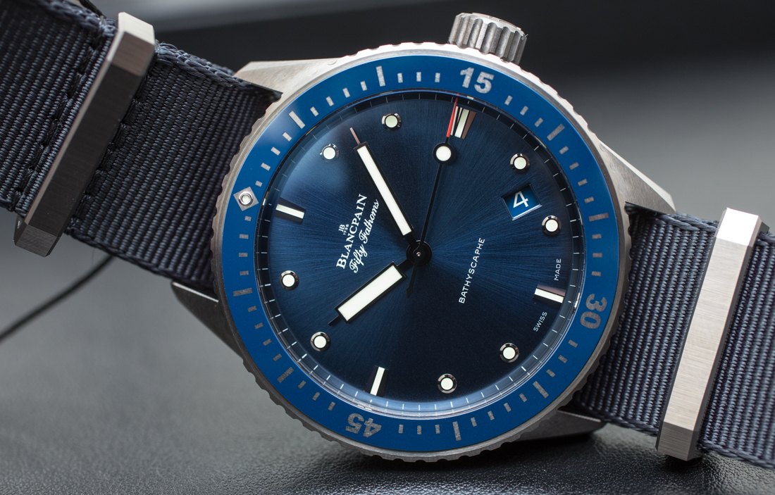 Blancpain Fifty Fathoms Bathyscaphe Blue & Ceramic Watch Hands-On