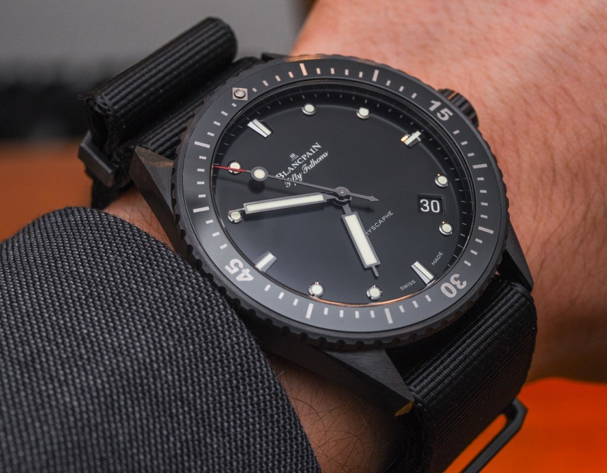Blancpain Fifty Fathoms Bathyscaphe Watch In Ceramic For 2015 Hands-On