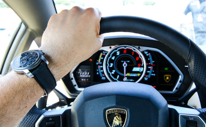 Blancpain L-Evolution Chronographe Flyback Grande Date Watch With Lamborghini Aventador: Review Wrist Time Reviews