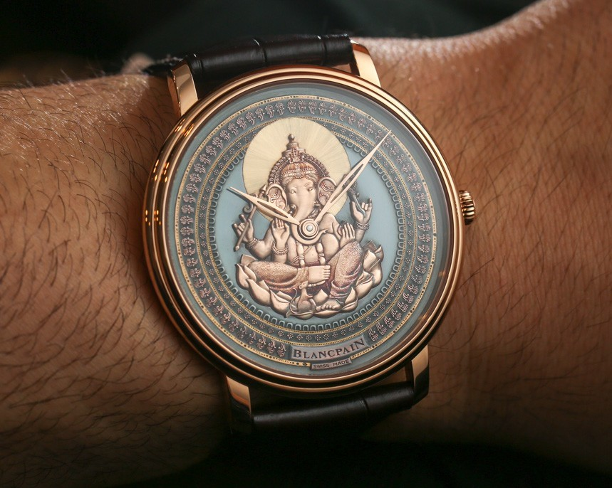 Blancpain Villeret Shakudo Ganesh & Coelacanth Engraved Dial Watches Hands-On