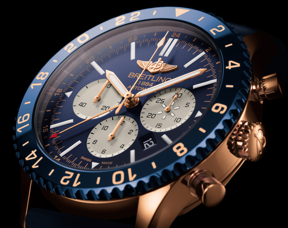 Breitling Chronoliner B04 Watch In Red Gold Watch Releases
