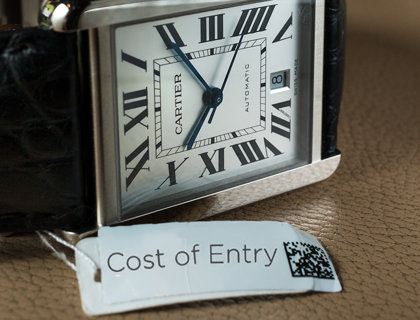 Cost Of Entry: Cartier Watches