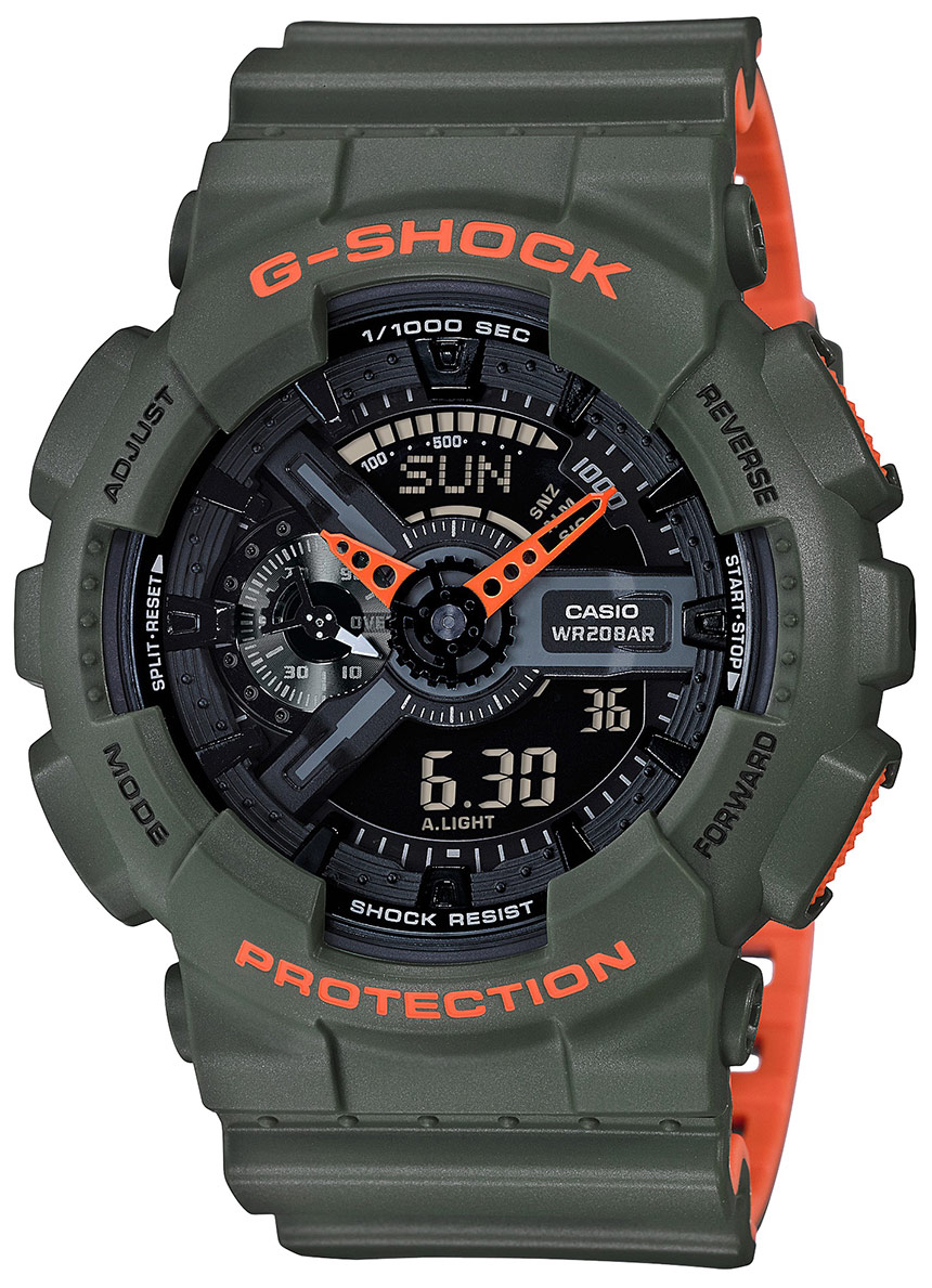 Casio G-Shock GA110LN Layered Neon Color Watches Watch Releases