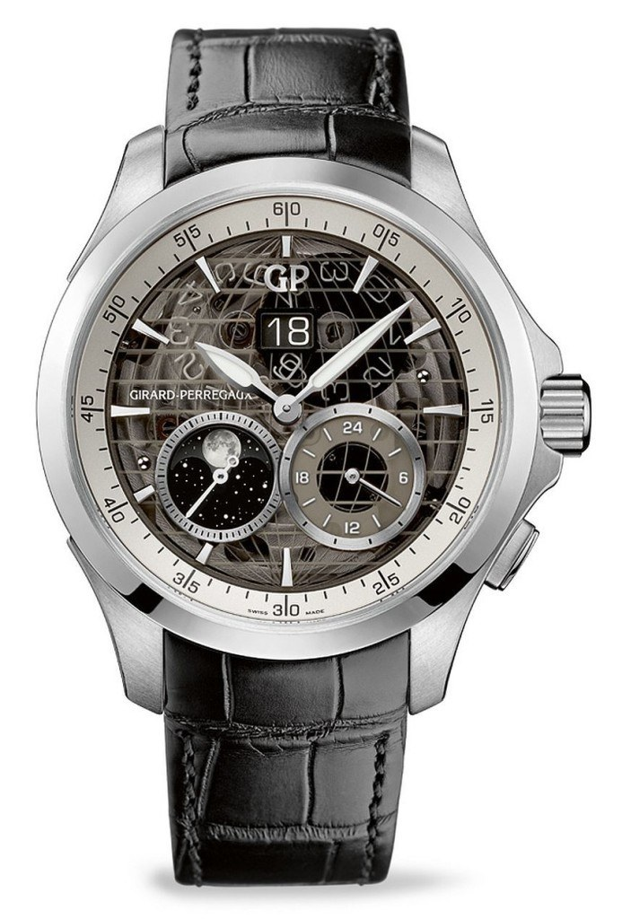 Girard-Perregaux Traveller Large Date, Moon Phases & GMT Watch