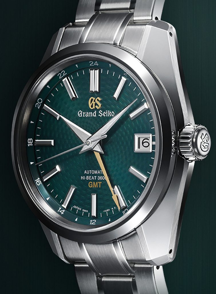 Grand Seiko Watches Made Hi-Beat 36000 GMT Limited Edition SBGJ227 Watch Brings The Popular Green Dial GMT Back Watch Releases