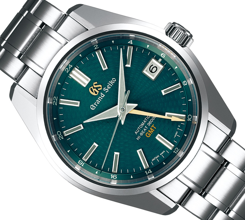 Grand Seiko Hi-Beat 36000 GMT Limited Edition SBGJ227 Watch Brings The Popular Green Dial GMT Back Watch Releases