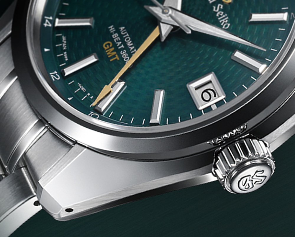 Grand Seiko Watches Mens Amazon Hi-Beat 36000 GMT Limited Edition SBGJ227 Watch Brings The Popular Green Dial GMT Back Watch Releases