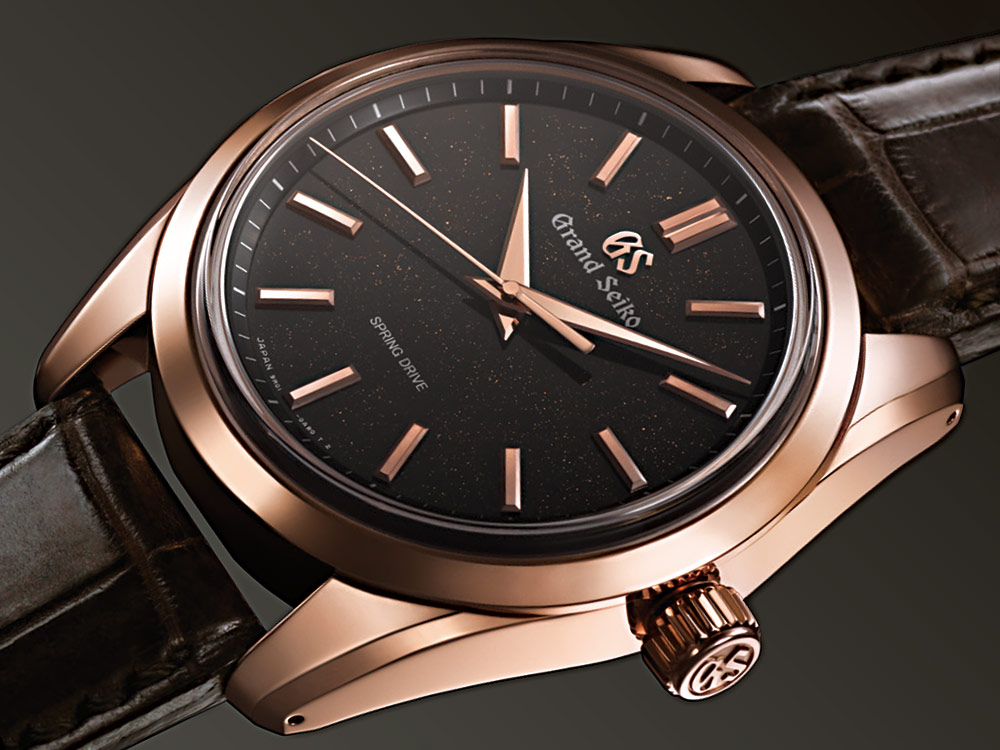 Grand Seiko Spring Drive SBGD202 8 Day Power Reserve 18k Rose Gold Watch