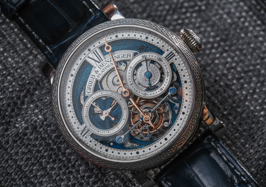 Grieb & Benzinger Blue Merit Watch Based On A. Lange & Söhne Tourbillon Hands-On Hands-On