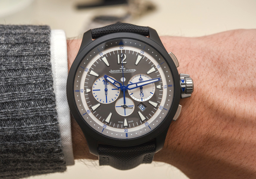 Jaeger-LeCoultre Master Compressor Chronograph Ceramic Watch In Blue Hands-On