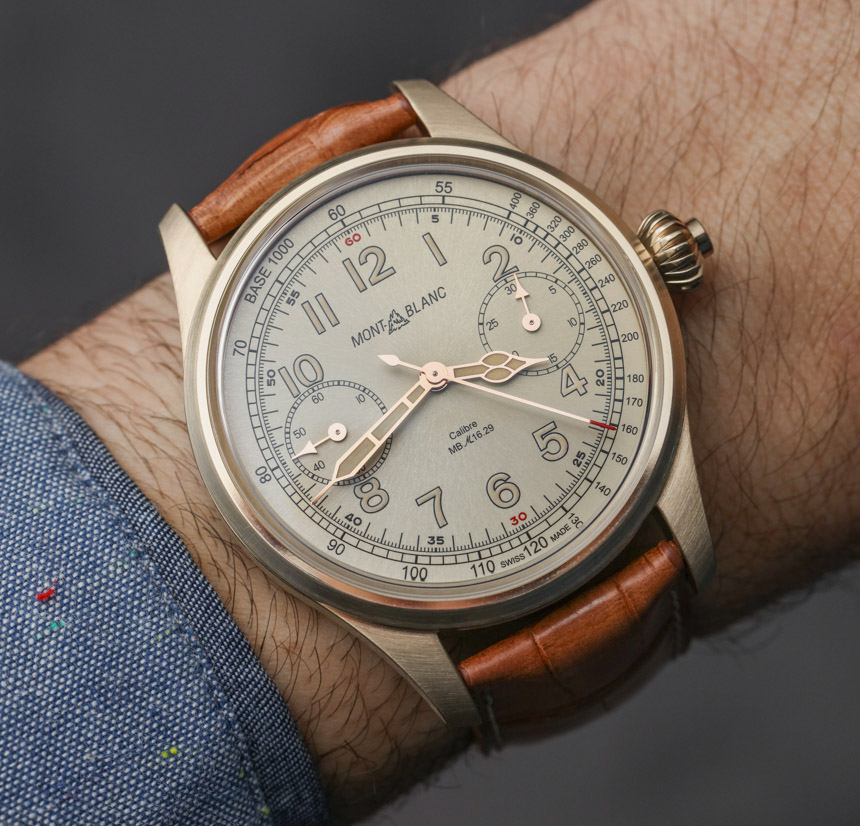 Montblanc 1858 Chronograph Tachymeter Bronze Watch Hands-On