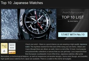 Top 10 Japanese Watches ABTW Editors' Lists