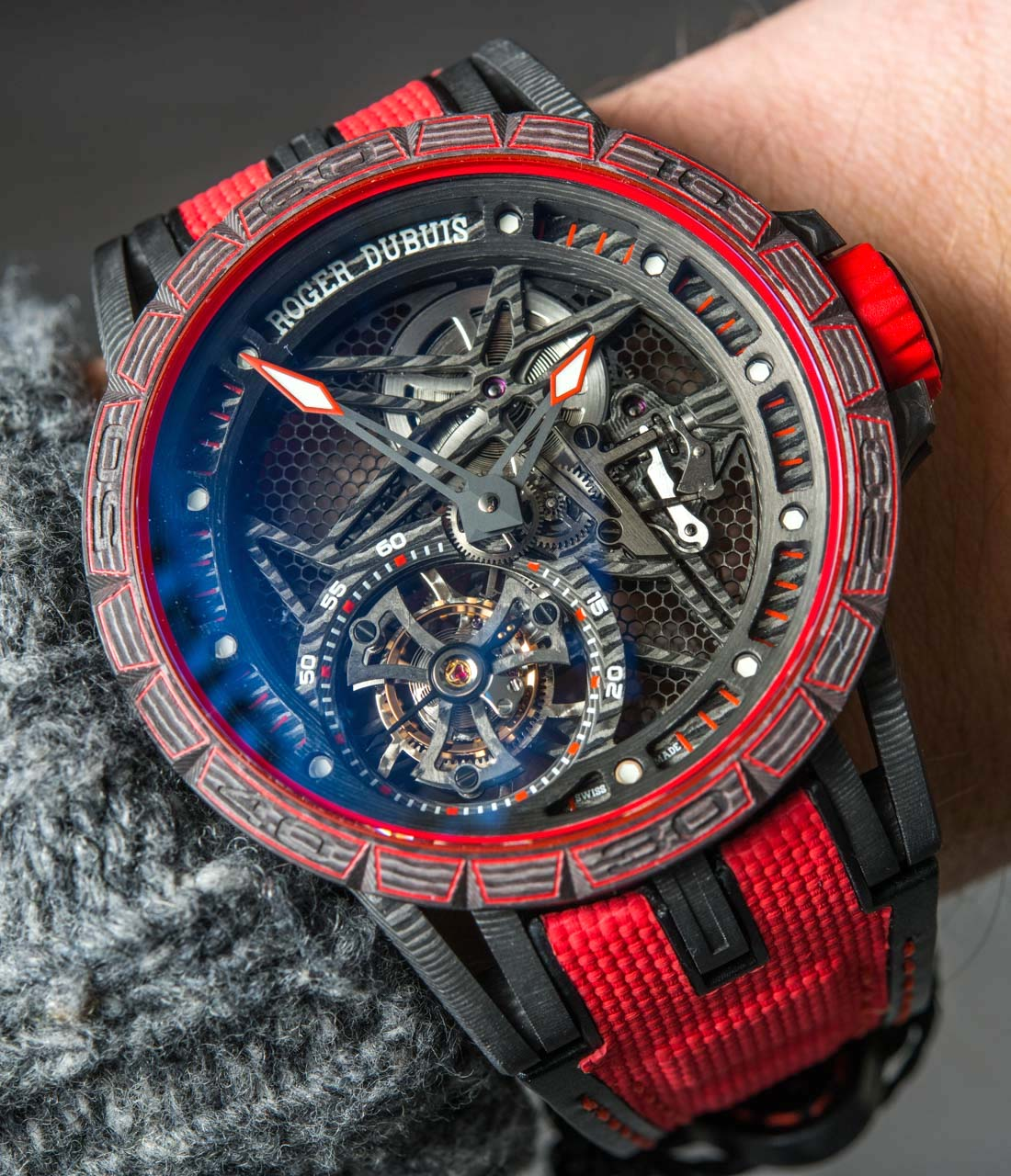Roger Dubuis Excalibur Carbon Spider Watch Hands-On