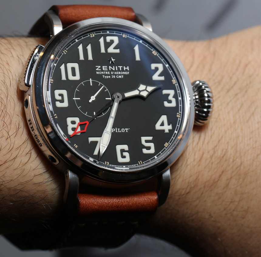 Zenith Pilot Montre d'Aeronef Type 20 GMT Watch Hands-On Hands-On