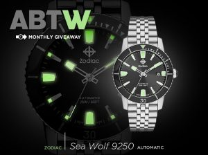 LAST CHANCE: Zodiac Heritage Sea Wolf Watch Giveaway Giveaways