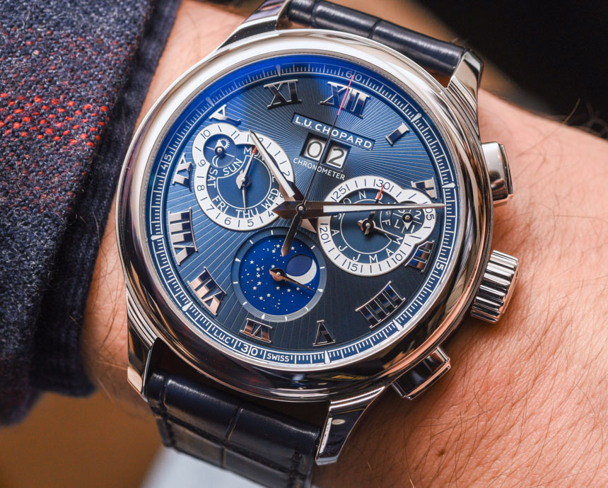 Chopard L.U.C Perpetual Chronograph Watch In Platinum With Blue Dial Hands-On