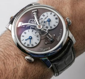 MB&F LM1 Final Edition Watch In Steel Hands-On Hands-On
