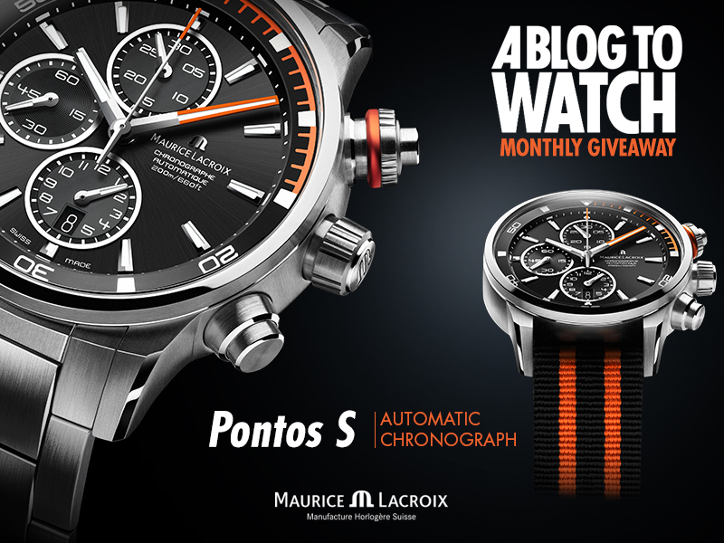 Watch Winner Announced: Maurice Lacroix Pontos S Chronograph
