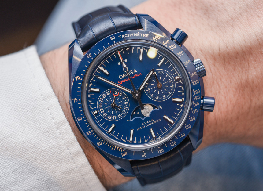 Omega Speedmaster 'Blue Side Of The Moon' Co-Axial Master Chronometer Chronograph Moonphase Watch Hands-On