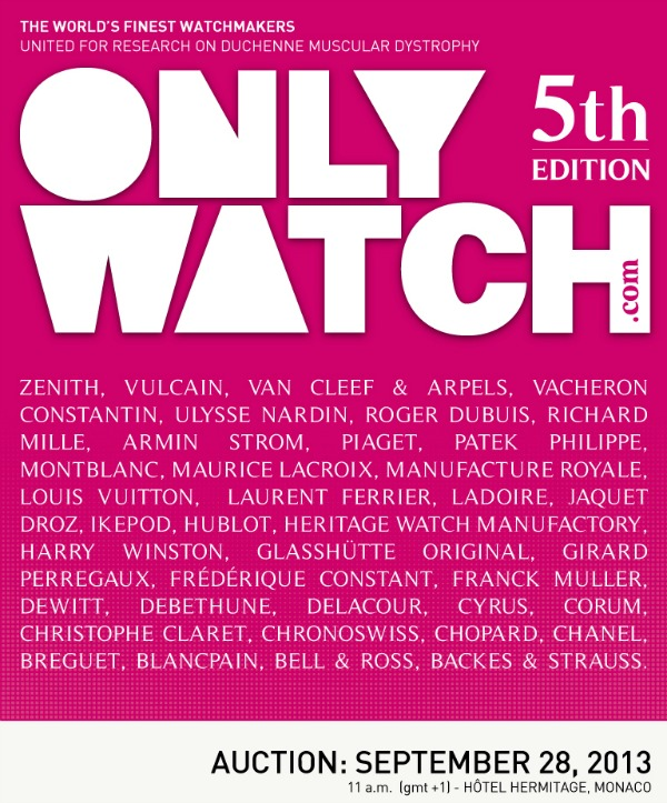 ONLY WATCH 2013: See What Brands To Expect Wild Watches From