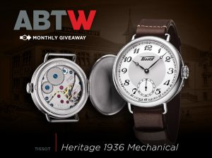 Winner Announced: Tissot Heritage 1936 Mechanical Watch Giveaway Giveaways