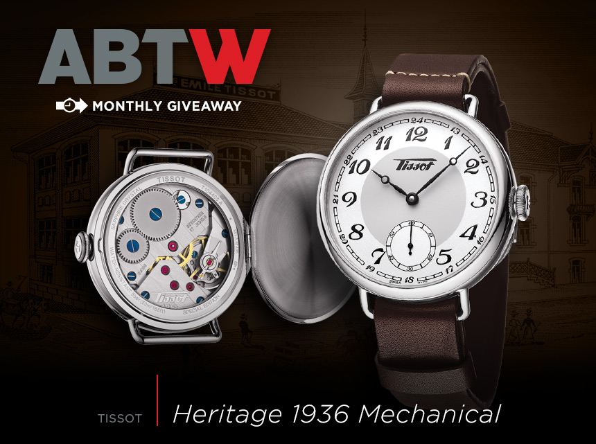 Winner Announced: Tissot Heritage 1936 Mechanical Watch Giveaway