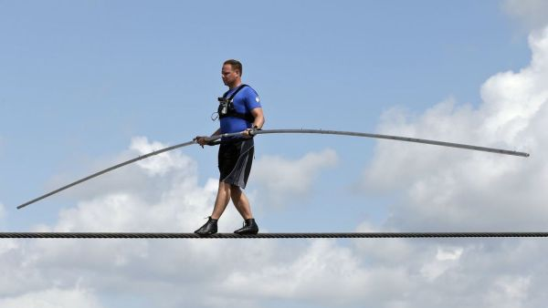 Nik Wallenda Takes Jeanrichard Online To New Heights Over Grand Canyon Watch Industry News