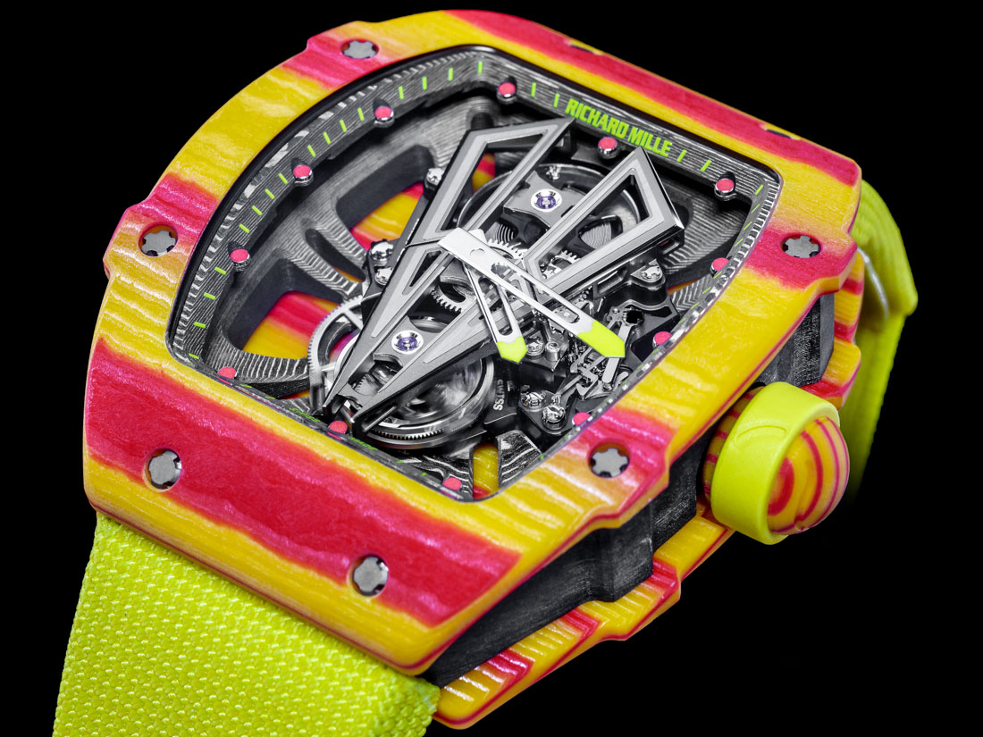 Richard Mille RM 27-03 Rafael Nadal Watch With A Tourbillon To Withstand 10,000 G's