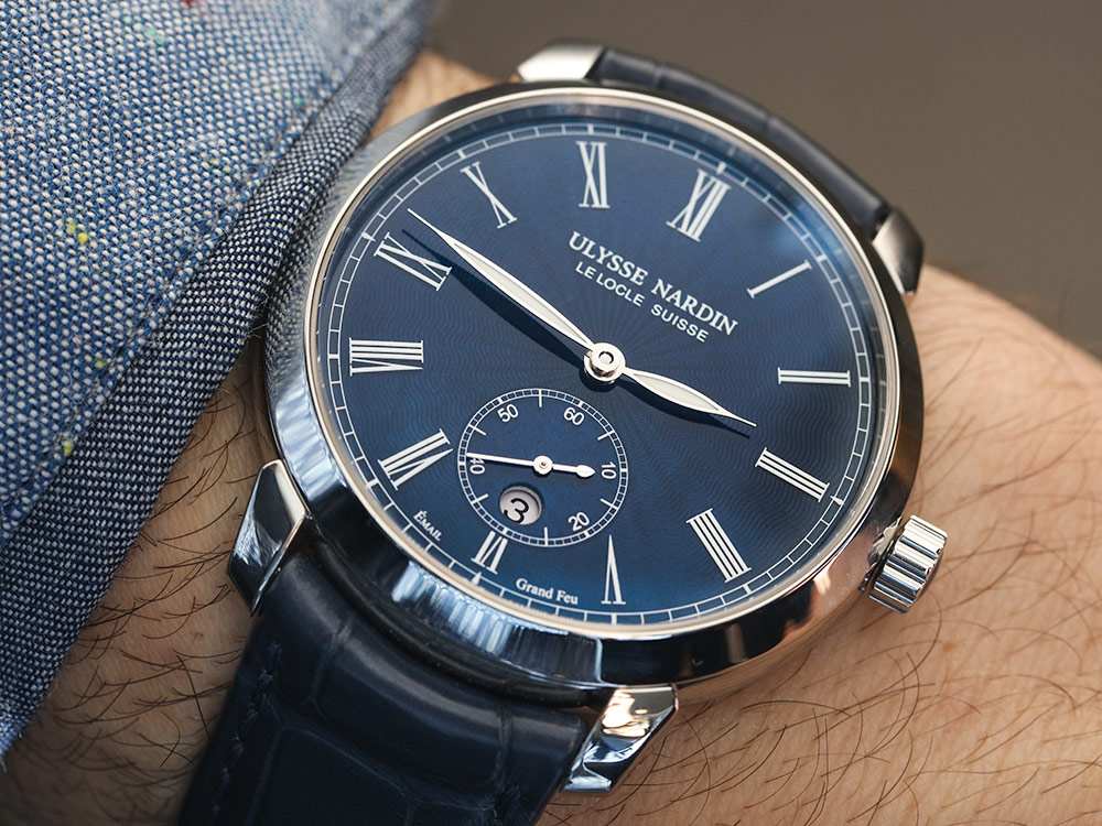 Ulysse Nardin Classico Manufacture 'Grand Feu' Blue Enamel Dial Watch Hands-On
