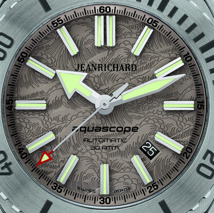 """Jeanrichard Aquascope Watch With Hokusai """"The Great Wave Off Kanagawa"""" Dial For Japan Watch Releases"""