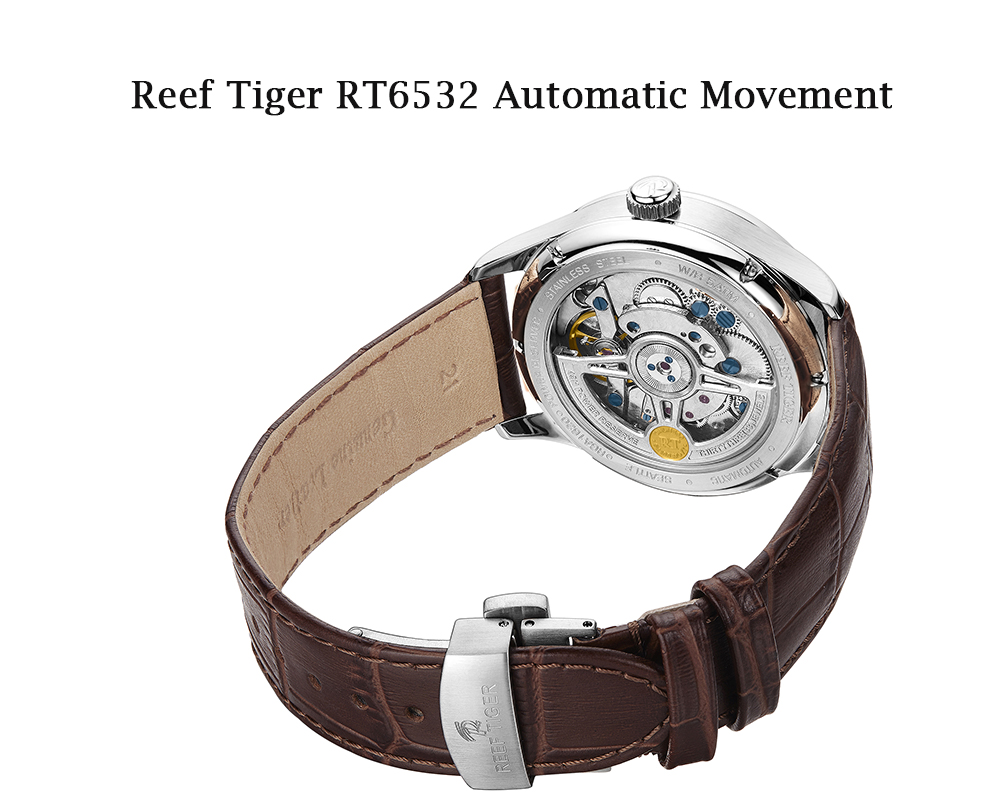 Reef Tiger Seattle Walker Automatic White Dial Stainless Steel Case Watch Review RGA1620