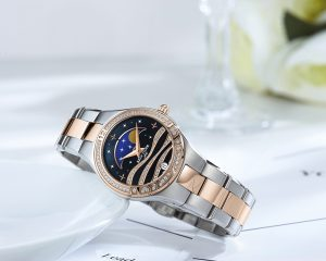 We Love This Beautiful Love Stars Moon Phase Ladies Watches RGA1524