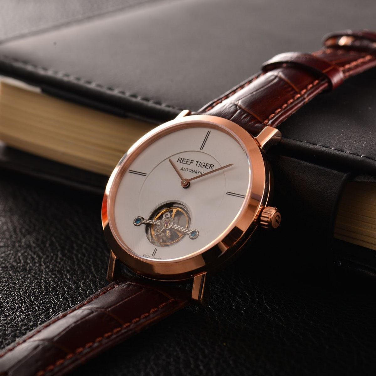 A Complete Guidebook On Seattle Mountain Rainier Tourbillon White Dial Rose Gold RGA1610 Automatic Watch