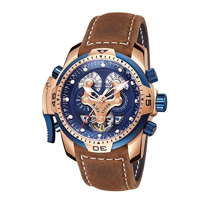 A Charming Watch On Your Wrist Reef Tiger Aurora Transformer Complicated Watches RGA3532