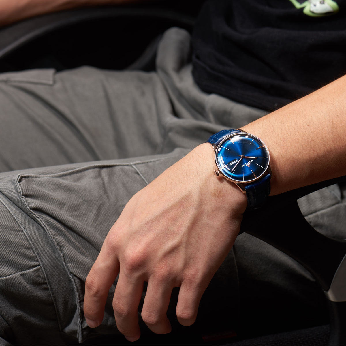 Show You The Reef Tiger Classic Heritor Blue Dial Steel Automatic Watch RGA8238