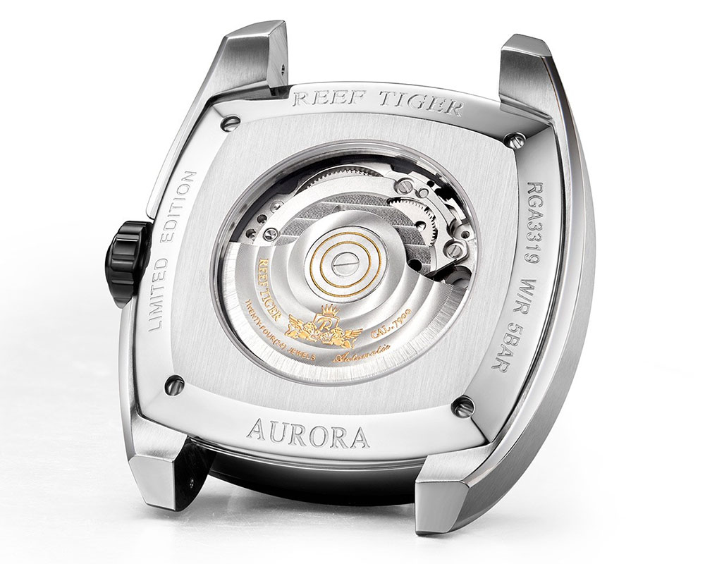 2018 Reef Tiger New Arrivals Aurora Pioneer With Super Luminous Time Scale Design
