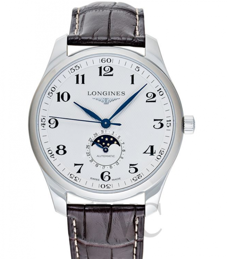 Longines is famous for its engraved winged hourglass logo